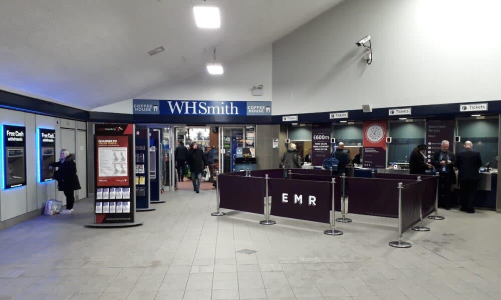 Inside Derby station