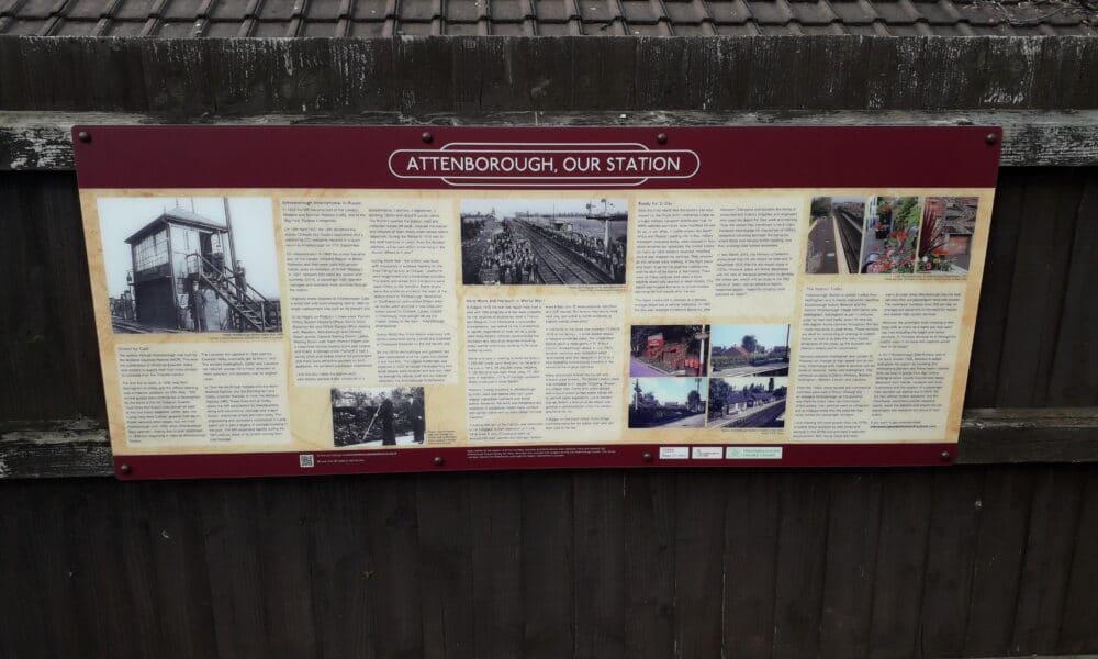 Attenborough station panel