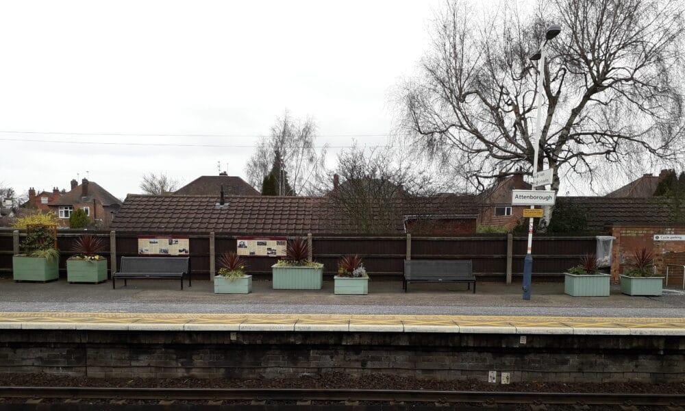 Attenborough platform 1 planters