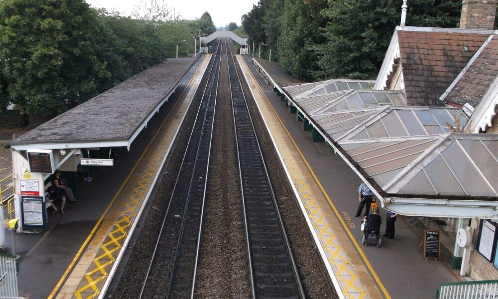 Beeston Station from bridge