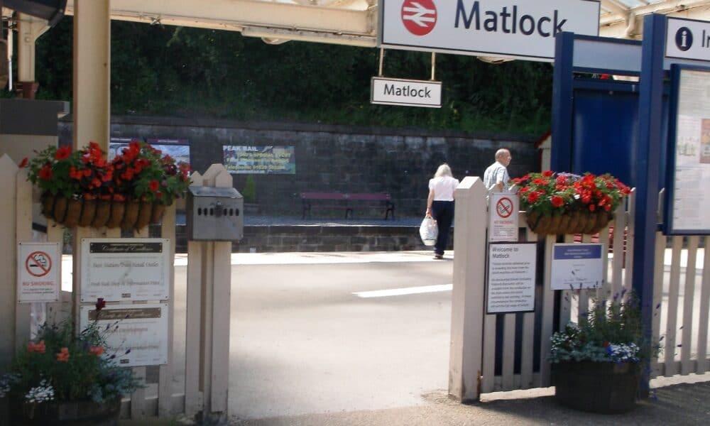 Matlock station entrance
