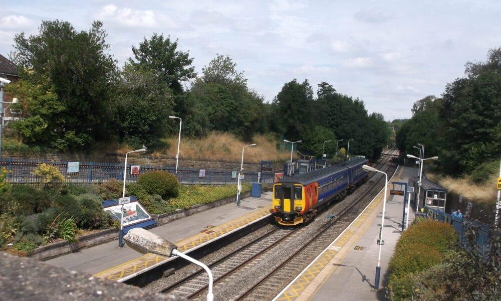 Belper train from bridge