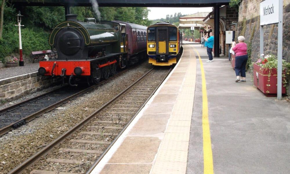 Peak Rail and Derwent Valley Line trains
