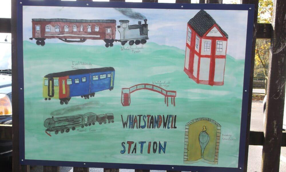 Whatstandwell artwork trains