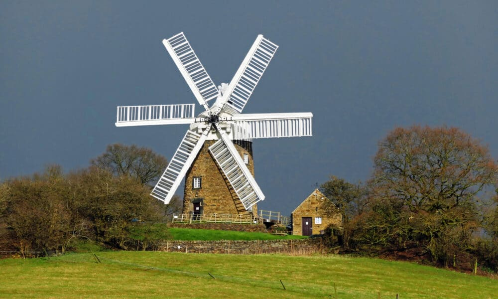 Heage Windmill and fields