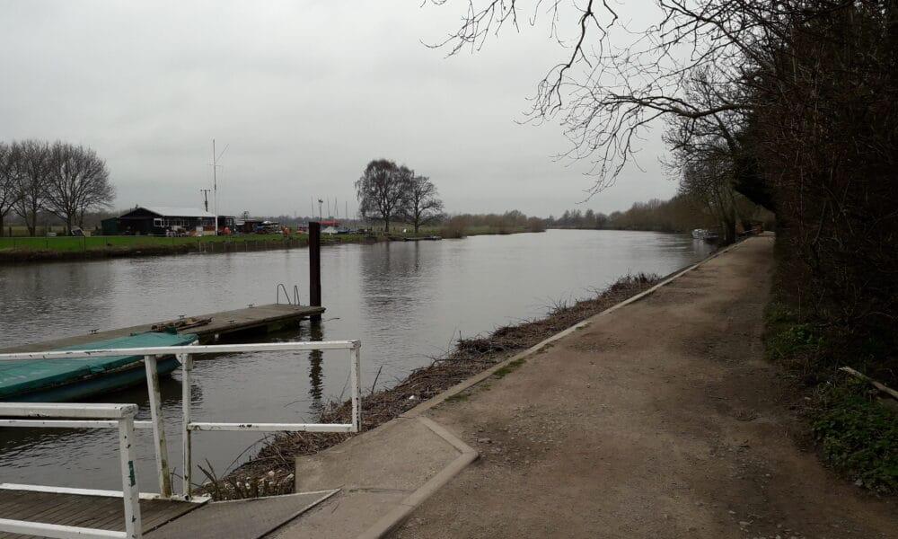 View along Trent towards Sawley