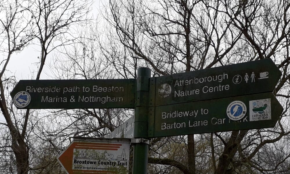 Attenborough trails signs