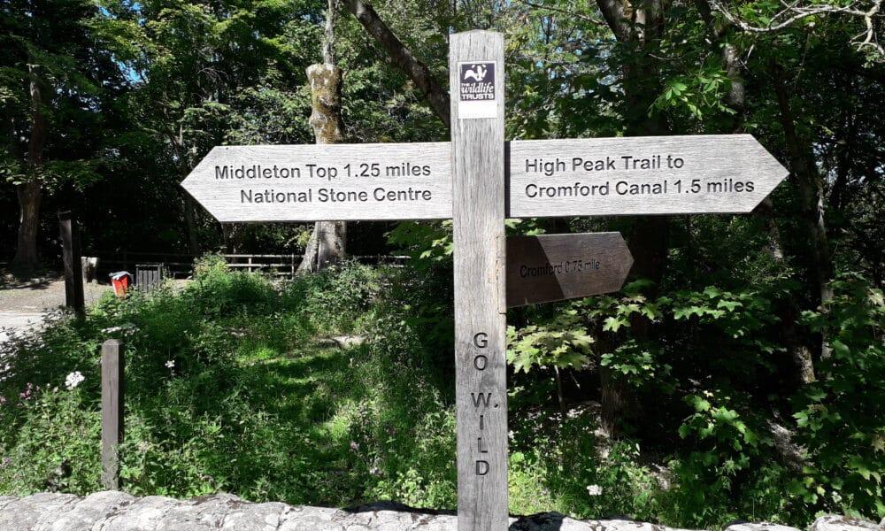 High Peak Trail Sign at Black Rocks