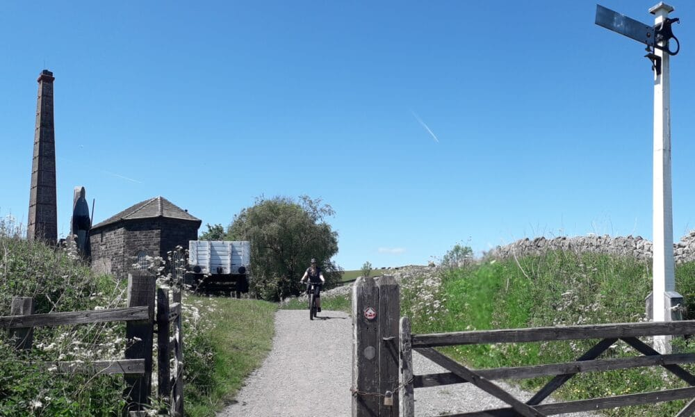 Middleton Engine House and cyclist