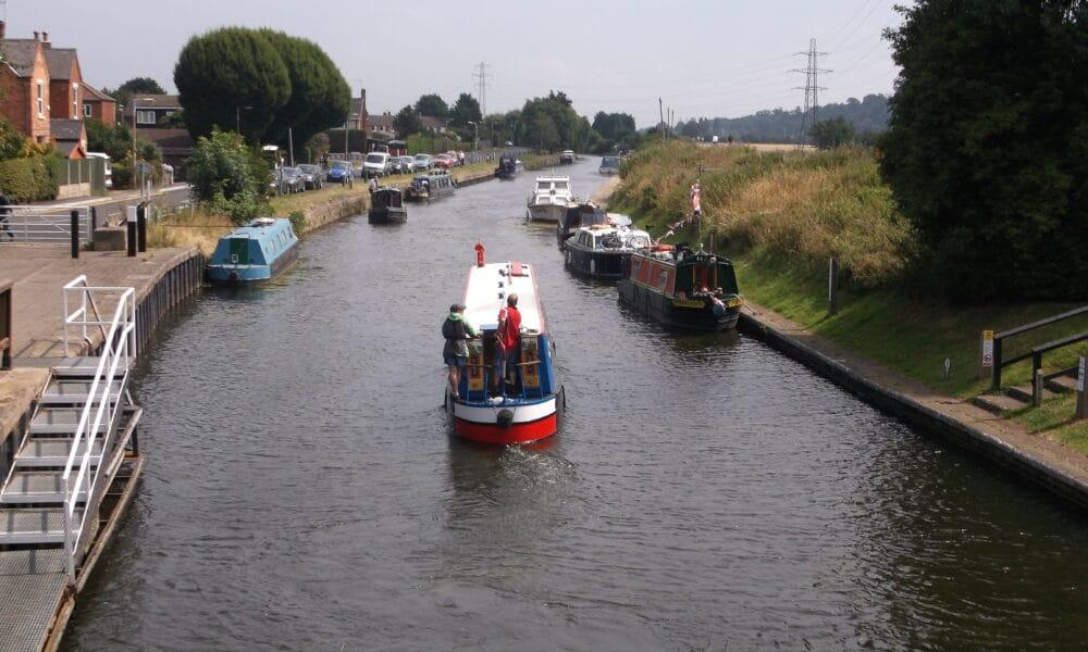 Canal boat at Beeston