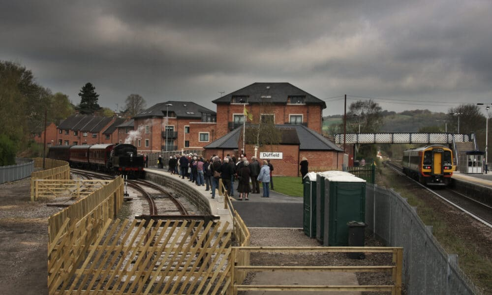 Duffield with steam train