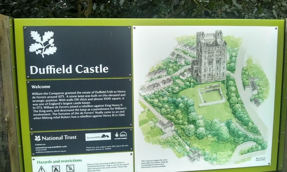 Duffield Castle panel