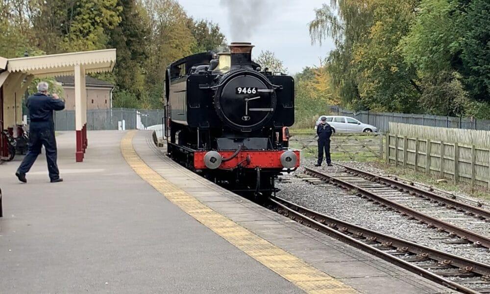 Steam train at Duffield