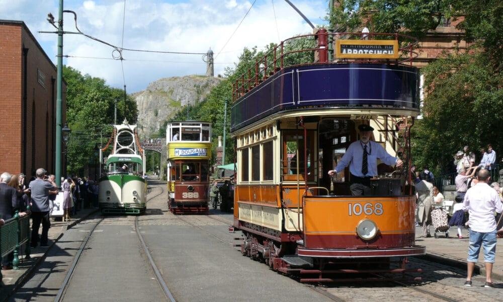 Trams in Village