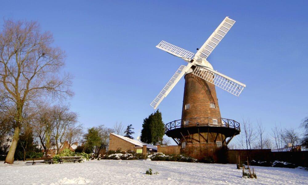 Greens Windmill snow landscape